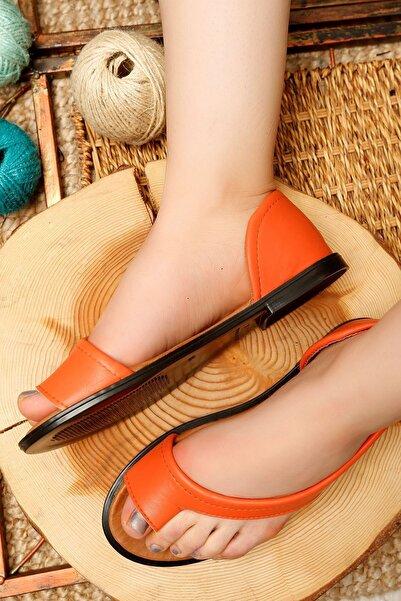 bedico Kadın Turuncu Parmak Arası Sandalet 4223.264
