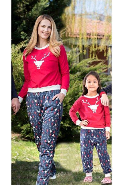 Yeni İnci Anne Kız Pembe Pijama Takımı Kombini