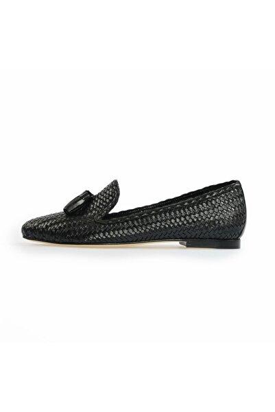 Flower Kadın Siyah Püsküllü Günlük Ayakkabı