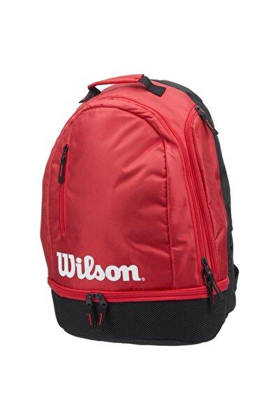 Wilson Unisex Kırmızı Tenis Raket Sırt Çantası Team