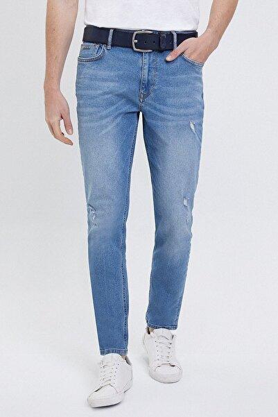 Loft Erkek Buz Mavisi Kot Pantolon Premium