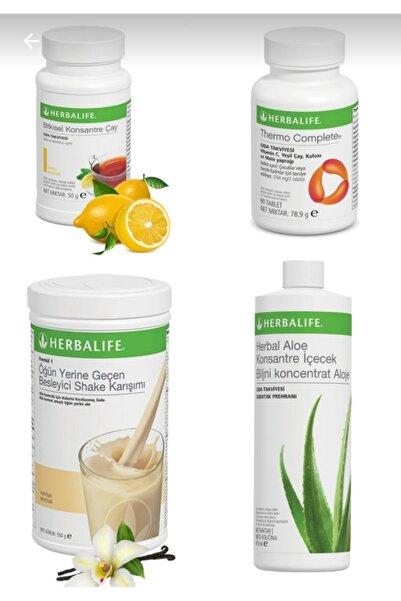 Herbalife Vanılyalı Shake 1 Adet + 50 gr Cay 1 Adet + Aloevera 1 Adet + Thermo 1 Adet