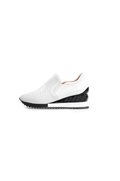 Flower Kadın Beyaz Taban Detaylı Spor Ayakkabı