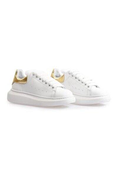 Kadın Beyaz Yüksek Tabanlı Spor Ayakkabı