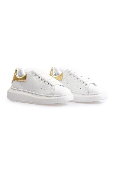 Flower Kadın Beyaz Yüksek Tabanlı Spor Ayakkabı