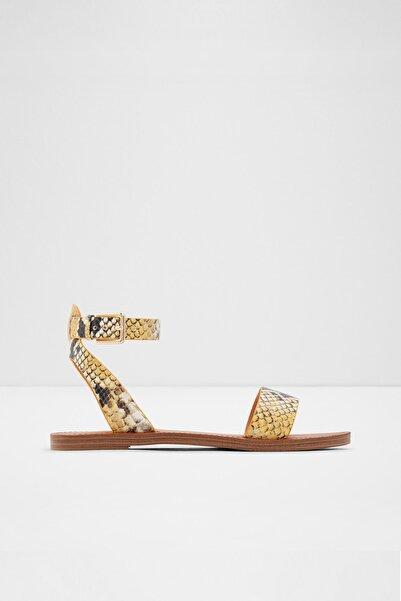 Aldo Kadın Sarı Hakiki Deri Sandalet