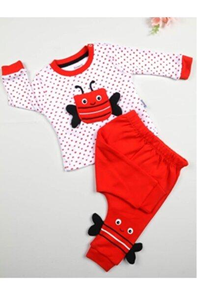 Miniworld Unisex Bebek Kırmızı Arılı Ikili Takım