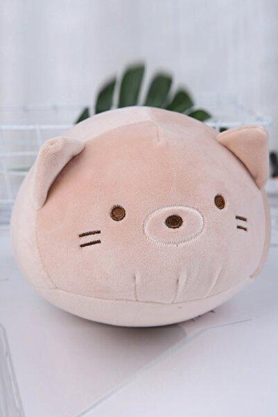 YOYOSO Kahverengi Sevimli Kedi Yastık 25 cm