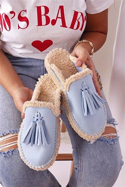 RK Format Shoes Kadın Mavi Yumi Terlik