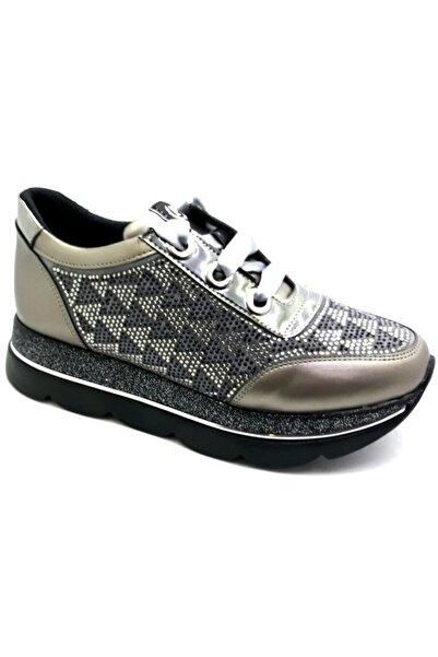 Pierre Cardin Kadın Gümüş Platin Günlük Ayakkabı