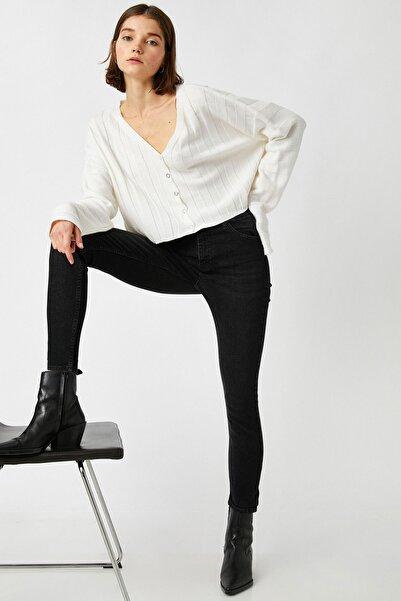 Koton Kadın Siyah Jeans 1KAK47632MD