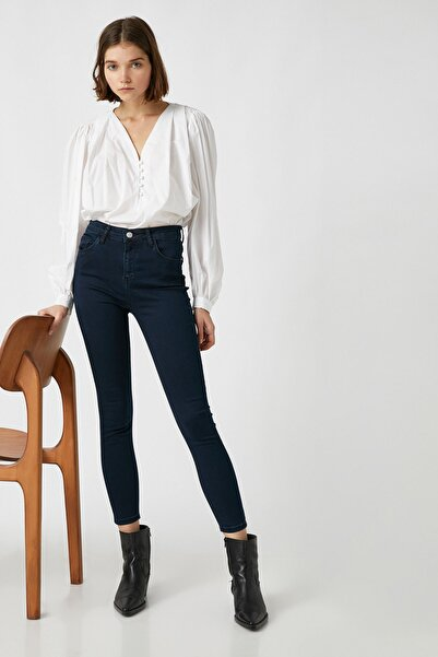 Koton Kadın Mıd Indıgo Jeans 1KAK47323MD