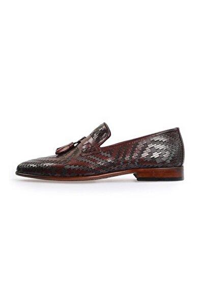 Flower Erkek Bordo Püskül Detaylı Klasik Ayakkabı