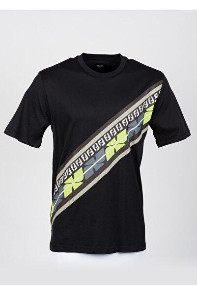 Fendi Erkek Siyah Kısa Kollu T-Shirt