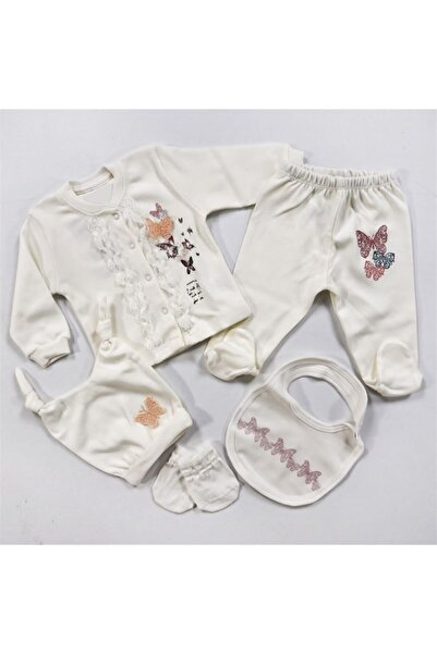 Aziz Bebe Ultra Lüx Kelebekli 5'li Hastane Çıkışı 957
