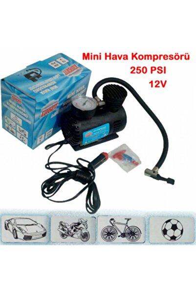 Egonex Araba Oto Araç Lastik Şişirme Pompası Hava Kompresörü 250psi 12v Volt Şişirici Kompresör Pompa Setii