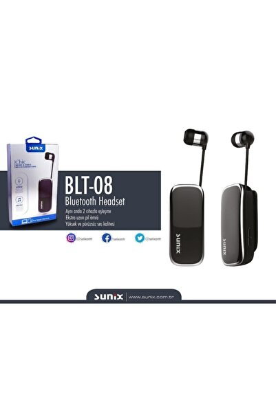 Sunix Blt-08 Makaralı Bluetooth Kulaklık