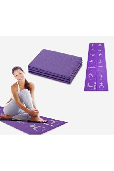 Dynamic 4mm Pvc Katlanabilir Yoga Mat Kaymaz Katlanır.