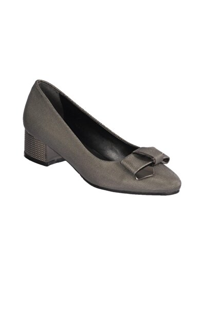 pabucmarketi Kadın  Platin Topuklu Ayakkabı