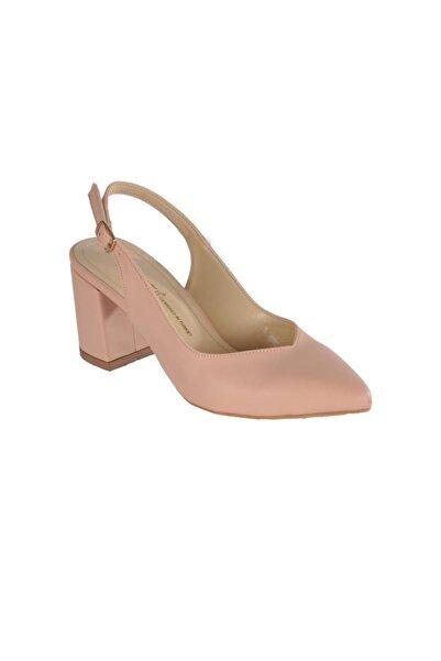 pabucmarketi Kadın Pudra Topuklu Ayakkabı