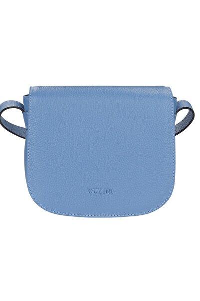 Guzini Kadın Mavi Deri Çanta