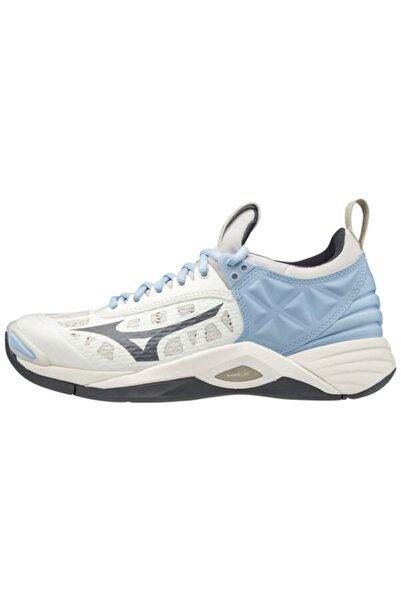 MIZUNO Wave Momentum Unisex Voleybol Ayakkabısı Beyaz
