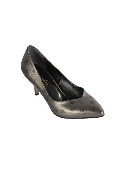 Pierre Cardin Kadın  Platin Siyah Topuklu Ayakkabı