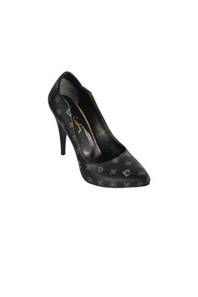 Pierre Cardin Kadın Siyah Gri Topuklu Ayakkabı