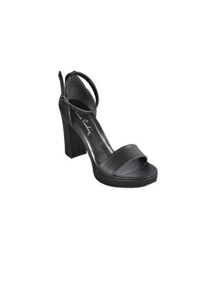 Pierre Cardin Kadın Siyah Topuklu Ayakkabı