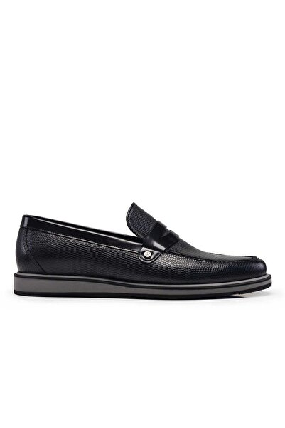 Nevzat Onay Erkek Siyah Hakiki Deri Loafer Erkek Ayakkabı