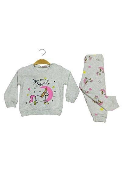 Tarık Kız Bebek  Tavşan Baskılı 3'lü Eşofman Pjama Takımı