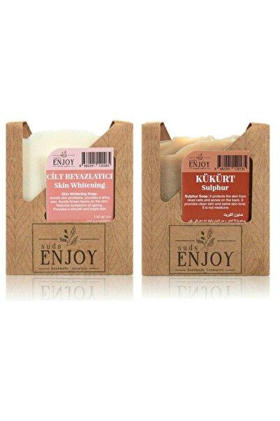 Enjoy Doğal Cilt Beyazlatıcı - Kükürt El Yapımı Yüz, Saç Ve Vücut Sabunu (ikili Paket)