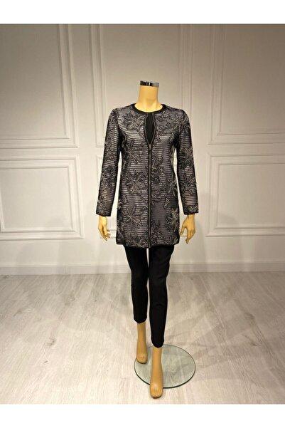 Moda İlgi Kadın Siyah Tunik Ceket