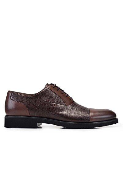 Nevzat Onay Erkek Koyu Kahverengi Hakiki Deri  Bağcıklı Ayakkabı