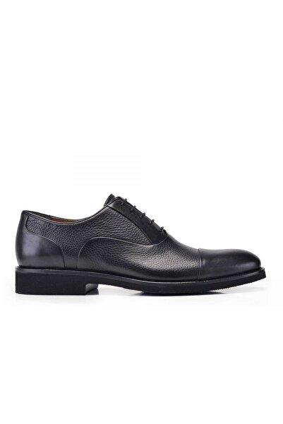Nevzat Onay Erkek Siyah Hakiki Deri  Bağcıklı  Ayakkabı