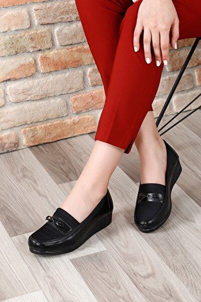 G.Ö.N Kadın Siyah Günlük Ayakkabı 42090