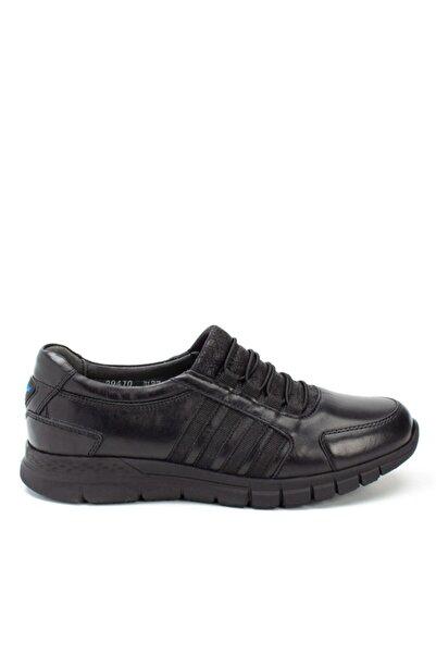 Forelli Kadın Siyah Günlük Rahat Deri Ayakkabı Cg 29410-h