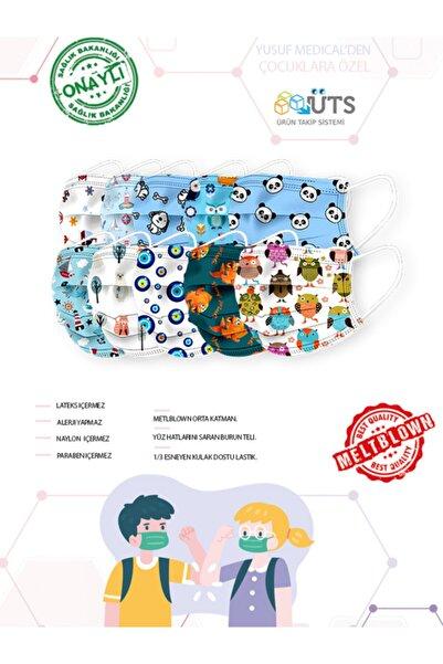 YUSUF MEDİCAL Cerrahi Meltblown Erkek Çocuk Maskesi 10 Farklı Desen 100 Adet (uts Kayıtlı)