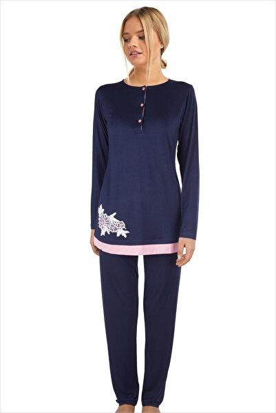 AYYILDIZ Kadın Lacivert Pijama Takımı 59523