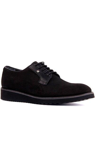 Fosco Erkek Siyah Nubuk Deri Günlük Ayakkabı