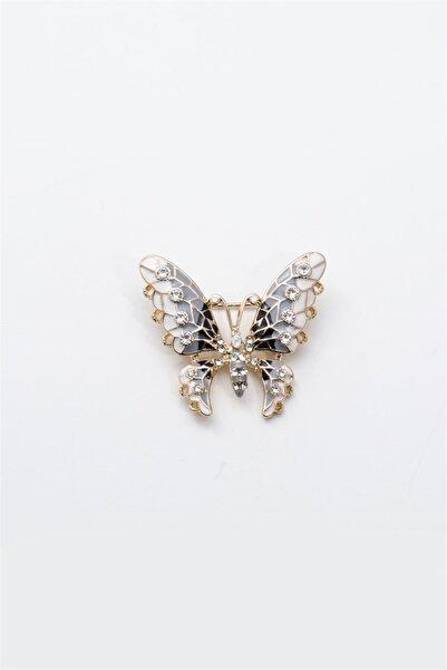 Sortie Aksesuar Kadın Altın Rengi Metal Broş 013