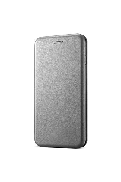 Microsonic Samsung Galaxy S10e Kılıf Ultra Slim Leather Design Flip Cover Gümüş