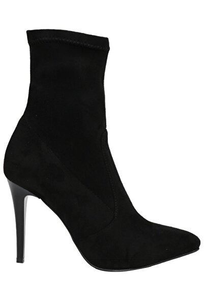 OZ DOROTHY Kadın Siyah Streç Süet Çorap Bot