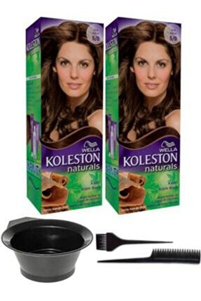 Koleston 2'li Naturals Krem Boya 5/0 Açık Kahve Saç Boyama Seti