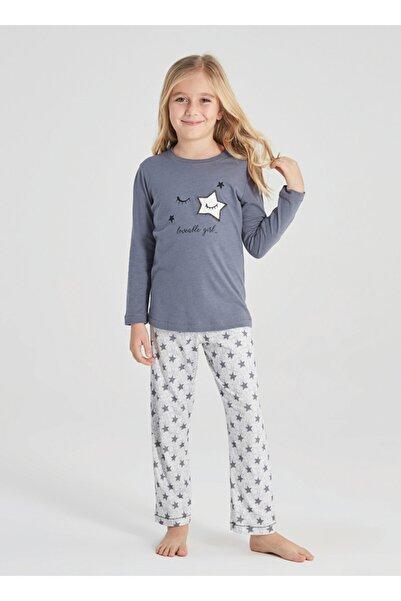 Blackspade Kız Çocuk Pijama Takımı 50368 - Gri