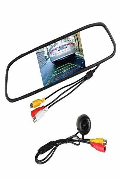 orijinalobjeler Ekranlı Dikiz Aynası Ve Geri Görüş Kamerası 4.3 Inç Hd Görüntü Kalitesi