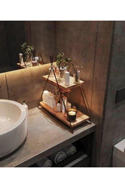 ALSANADOLU Üçgen Masa Üstü Düzenleyici Servis Rafı Organizer Dekoratif Mutfak-banyo Rafı Çok Amaçlı Dolap