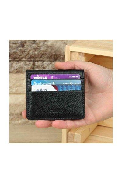 GUARD Unisex Siyah Otto Deri Kartlık 5239