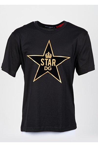 Dolce Gabbana Erkek Siyah Sıfır Yaka Tshirt