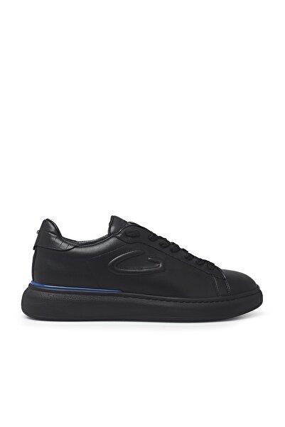 ALBERTO GUARDIANI Erkek Siyah Deri Casual Ayakkabı